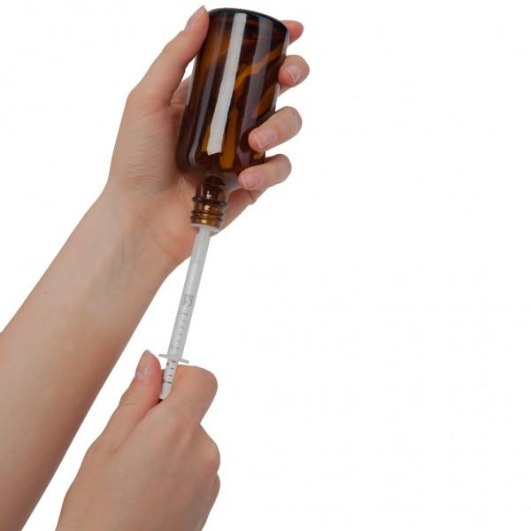 Dosierspritzen für DIN 18 Glasflaschen