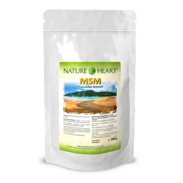 NATURE HEART MSM - 1 Beutel mit 500 g Pulver