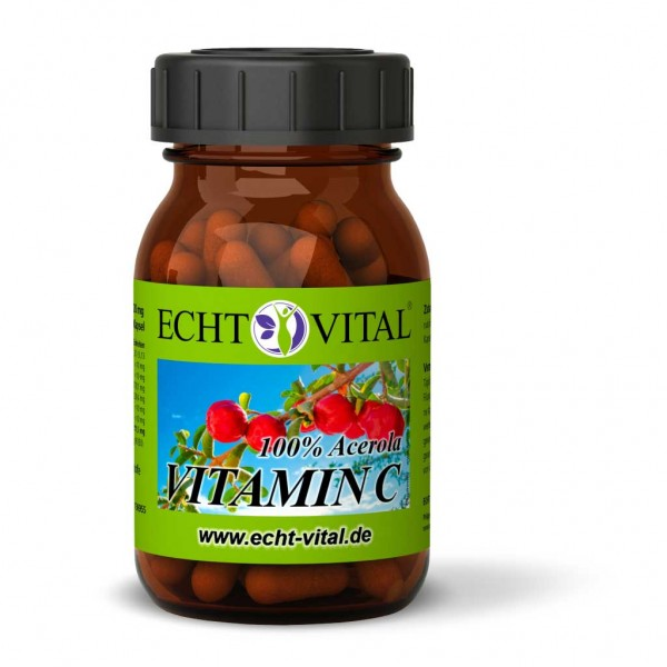 Echt Vital VITAMIN C - 1 Glas mit 60 Kapseln