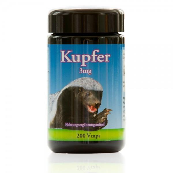 Kupfer 200 vegetarische Kapseln a 3 mg von Robert Franz