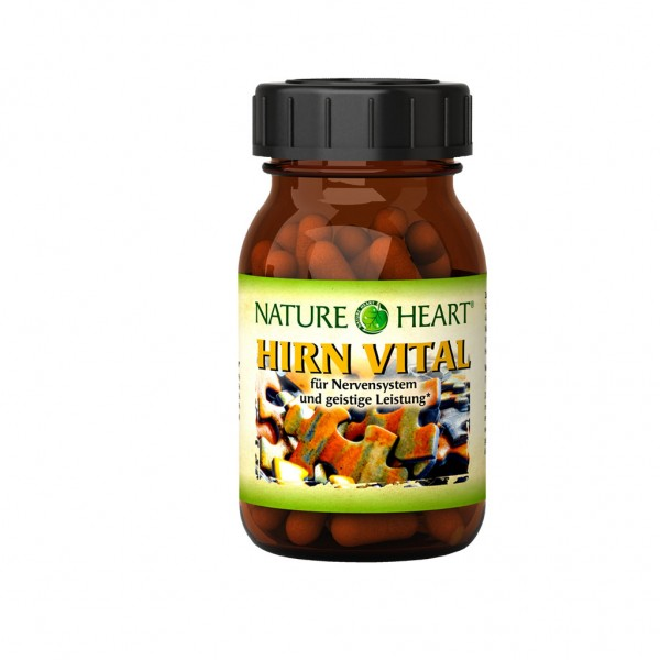 NATURE HEART Hirn Vital - 1 Glas mit 60 Kapseln