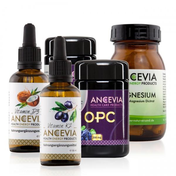 Ancevia® Vitamin D3 + K2 + Magnesium 2 x OPC im Set