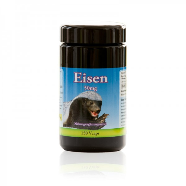 Eisen 50 mg 150 vegetarische Kapseln für Tiger von Robert Franz