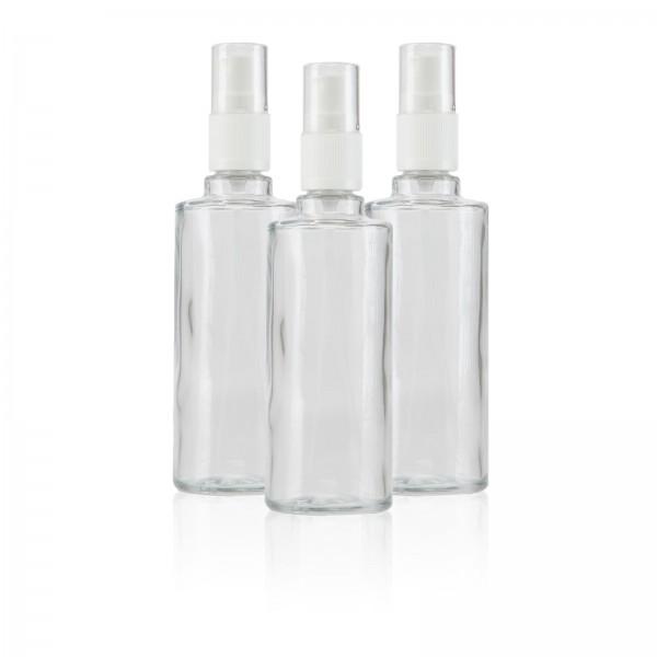 Glas-Sprühflasche 100 ml 3er Set