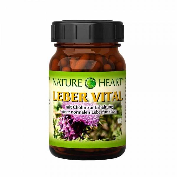 NATURE HEART Leber Vital - 1 Glas mit 120 Kapseln