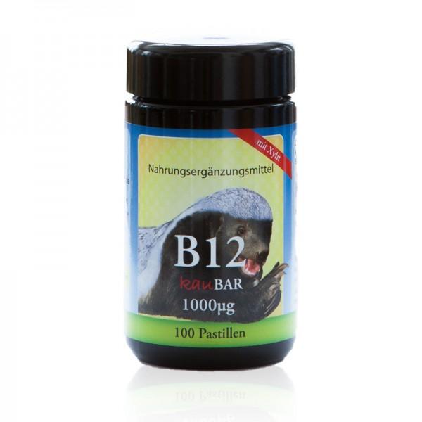 Vitamin B12 100 Vegane Pastillen mit Xylit 1000 mcg