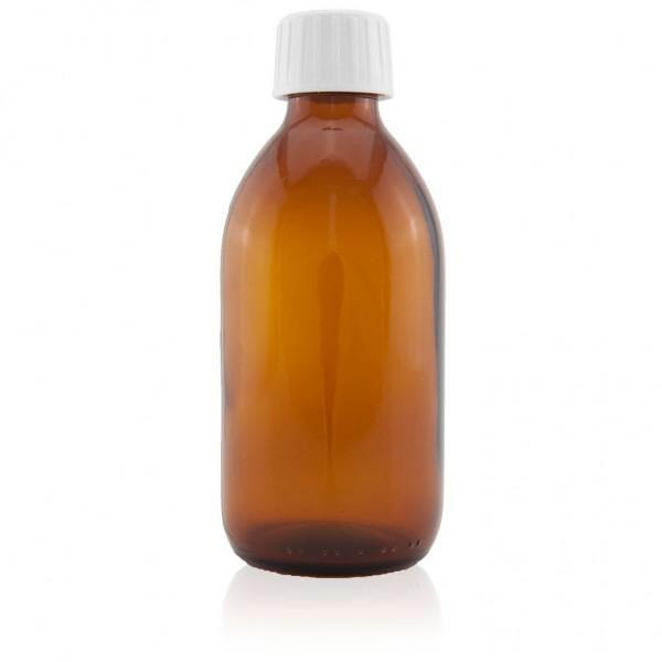 Sirupflasche Braunglas Gewinde PP 28 inkl. Verschluss